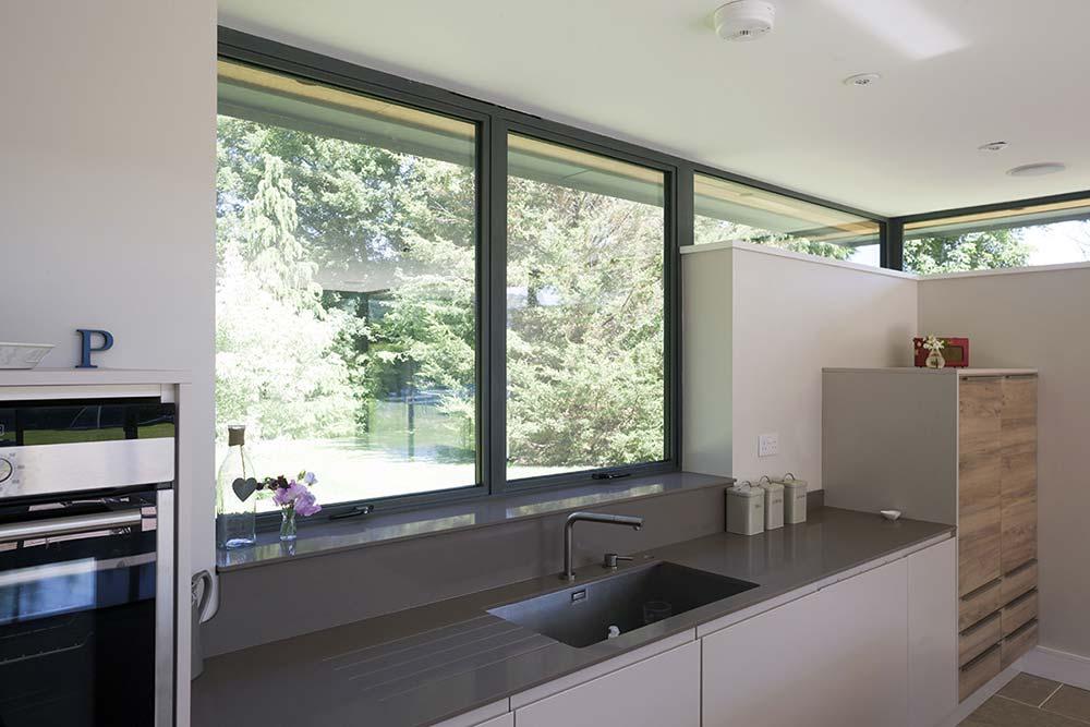Slimline Grey Aluminium Windows Salisbury