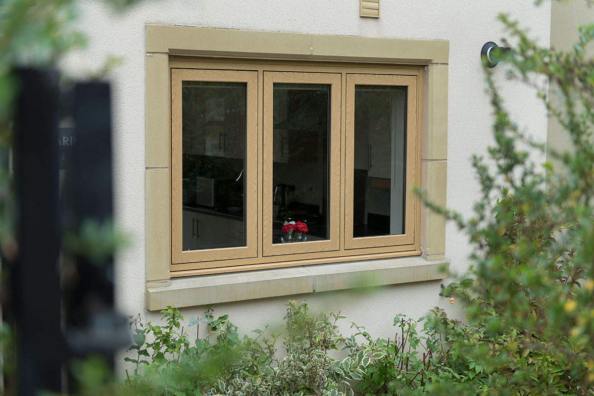 wood effect flush casement windows